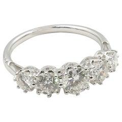 18 Carat White Gold 5-Stone High Level Diamond Eternity Ring