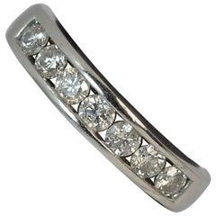 18 Carat White Gold and 0.50 Carat Diamond Half Eternity Stack Ring