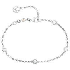 18 Carat White Gold Diamond Chain Bracelet