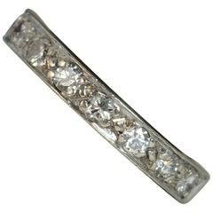 18 Carat White Gold Diamond Stack Half Eternity Ring