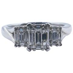 18 Carat White Gold Multi Baguette Diamond Engagement/Dress Ring
