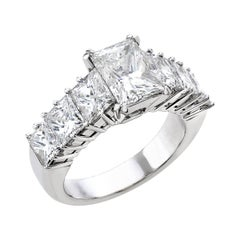 18 Carat White Gold Princess Cut Diamond Engagement Ring