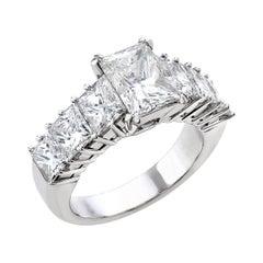 18 Carat White Gold Princess Cut Diamond Engagement Ring