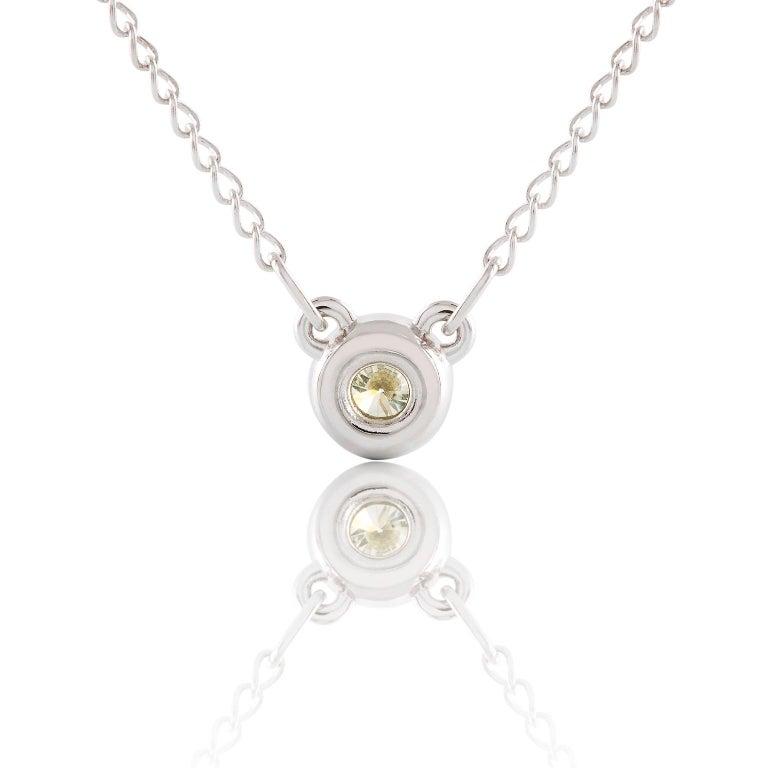 Art Deco Kian Design 18 Carat White Gold Round Brilliant Cut Diamond Necklace For Sale