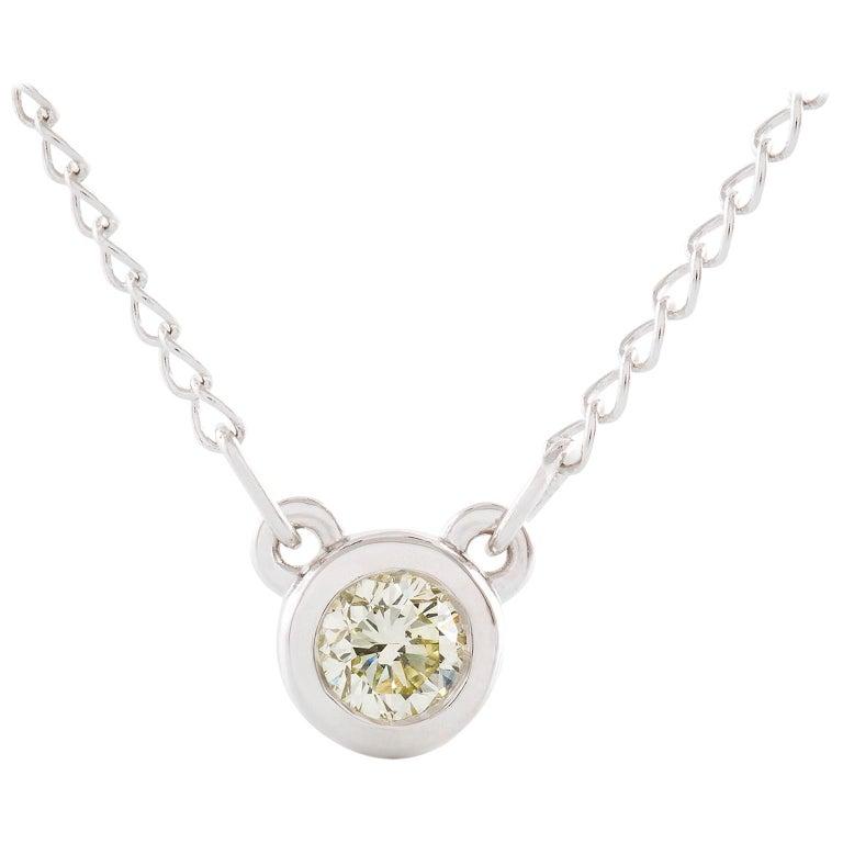 Kian Design 18 Carat White Gold Round Brilliant Cut Diamond Necklace For Sale