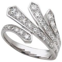 18 Carat White Gold Round Brilliant Cut Diamond Ring