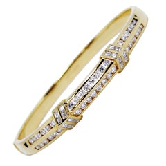 18 Carat Yellow Gold and Diamond Bangle