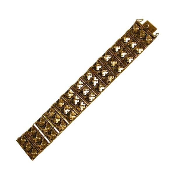 18 Carat Yellow Gold Flexible Bracelet, Dated circa 1950