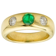 18 Carat Yellow Gold Gypsy Ring