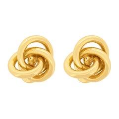 18 Carat Yellow Gold Knot Cufflinks, circa 1970s