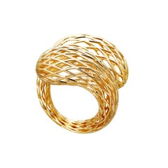 AENEA 18k Yellow Gold Net Ring