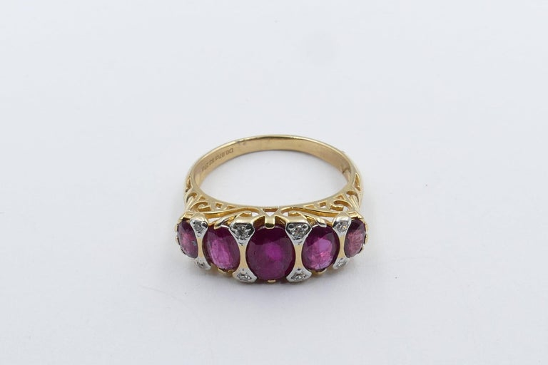 18 Carat Yellow Gold Ruby and Diamond Dress Ring In New Condition For Sale In Splitter's Creek, NSW