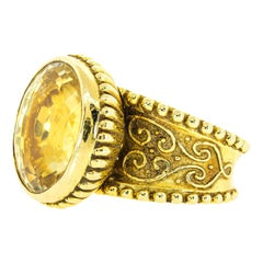 18 Carat Yellow Sapphire Gold Ring by Cynthia Bach