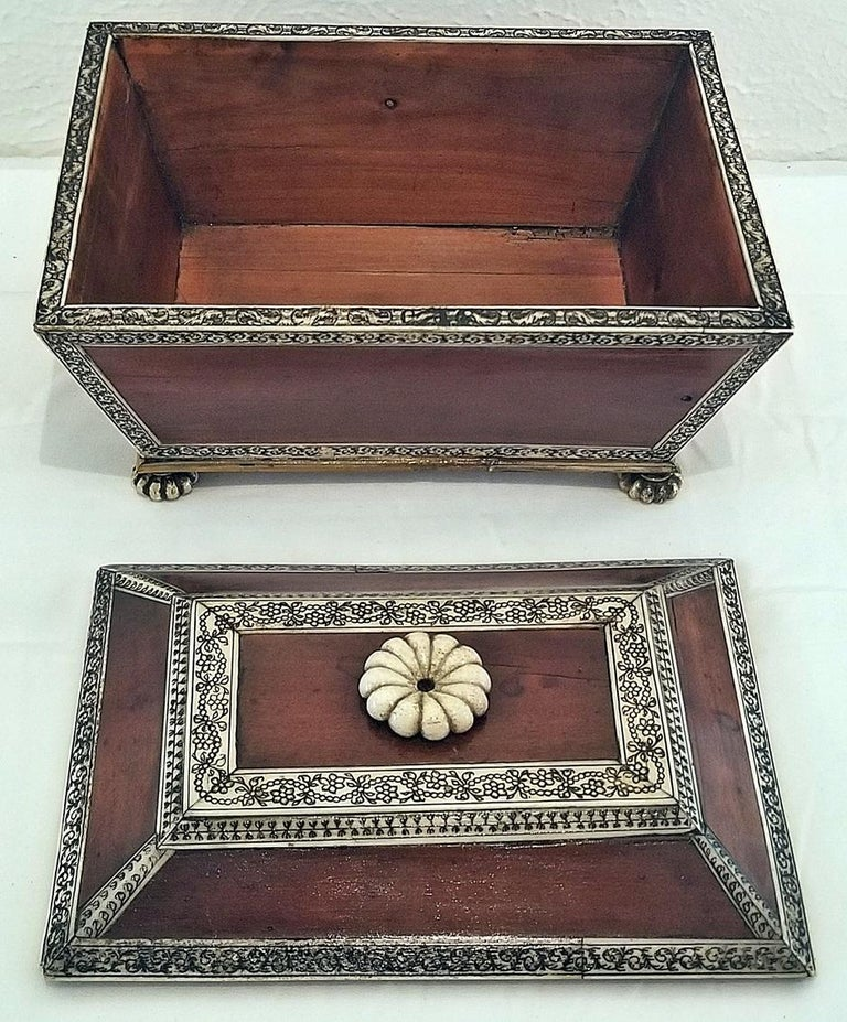 British Colonial 18 Century Anglo-Indian Vizagapatam Casket For Sale