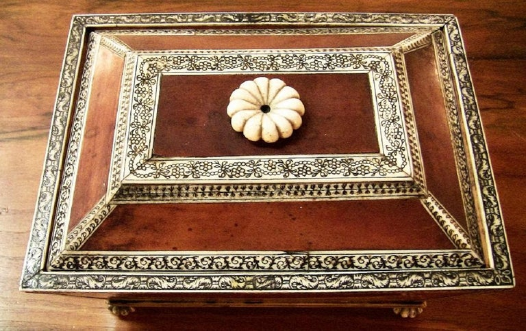 18th Century 18 Century Anglo-Indian Vizagapatam Casket For Sale