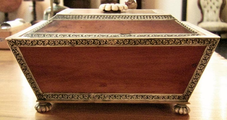 Bone 18 Century Anglo-Indian Vizagapatam Casket For Sale