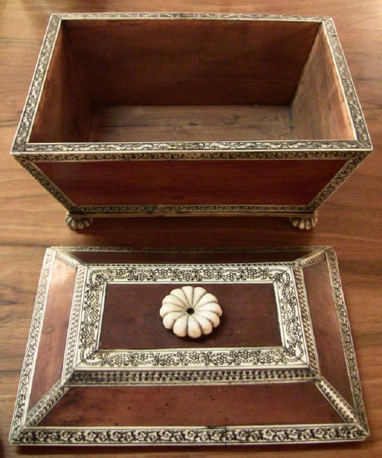 18 Century Anglo-Indian Vizagapatam Casket For Sale 1