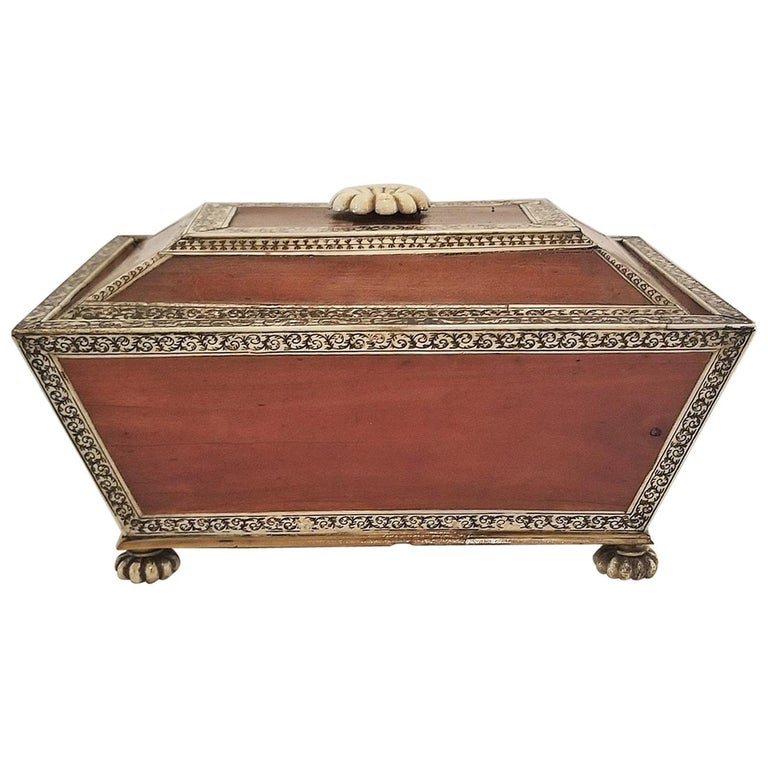 18 Century Anglo-Indian Vizagapatam Casket For Sale