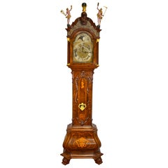 18th Century Dutch 'Utrecht' Longcase or Grandfather Clock by W.V. Dadelbeek