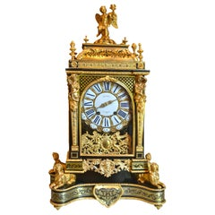 18thC Louis XV Boulle and Gilt Bronze Bracket Clock by Michel
