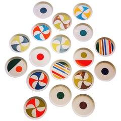 18 Gio Ponti Ceramiche Pozzi Pottery Plates, Italy, 1967