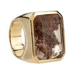 18 K Gold Chevalier Ring