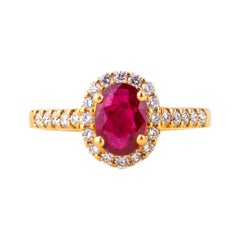 18 K Ruby Diamond Ring