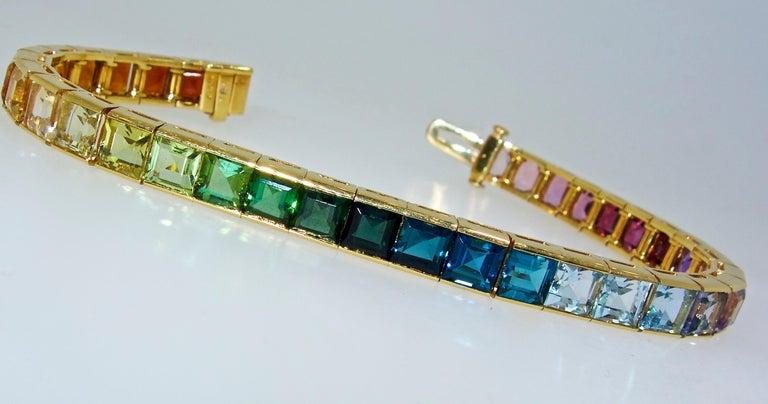 Armband aus 18 Karat mit mehrfarbigen Steinen, Raymond Yard 10