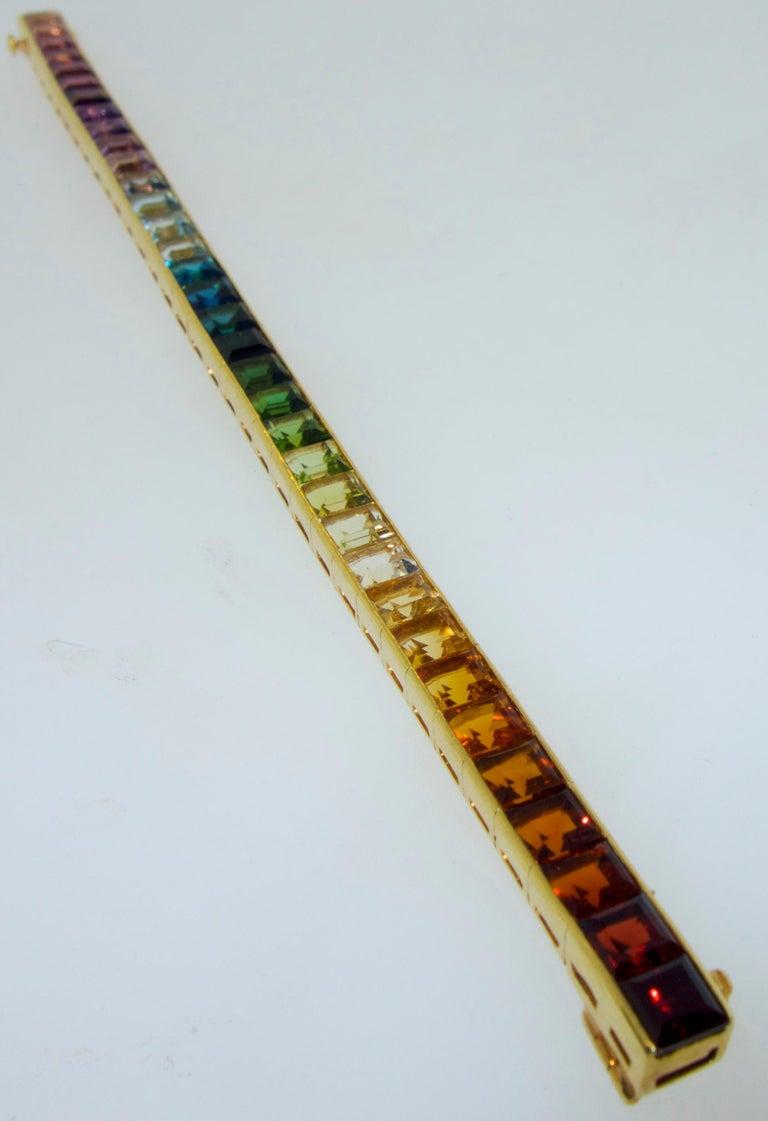 Armband aus 18 Karat mit mehrfarbigen Steinen, Raymond Yard 6