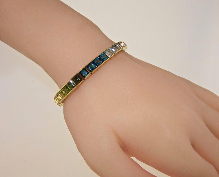 Armband aus 18 Karat mit mehrfarbigen Steinen, Raymond Yard 7