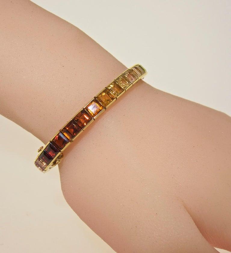 Armband aus 18 Karat mit mehrfarbigen Steinen, Raymond Yard 9