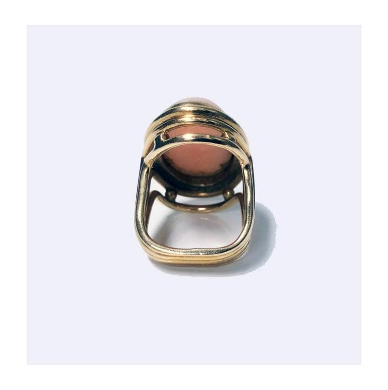 Women's or Men's 18 Karat Angel Skin Ring, circa 1970 Secrett For Sale
