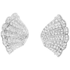 18 Karat Antique Diamond Ruffle Earrings