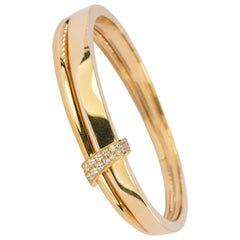 18 Karat Asprey Diamond Bangle