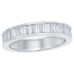 18 Karat Baguette Eternity Ring White