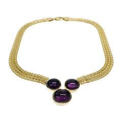 18 Karat Bismark Amethyst Necklace