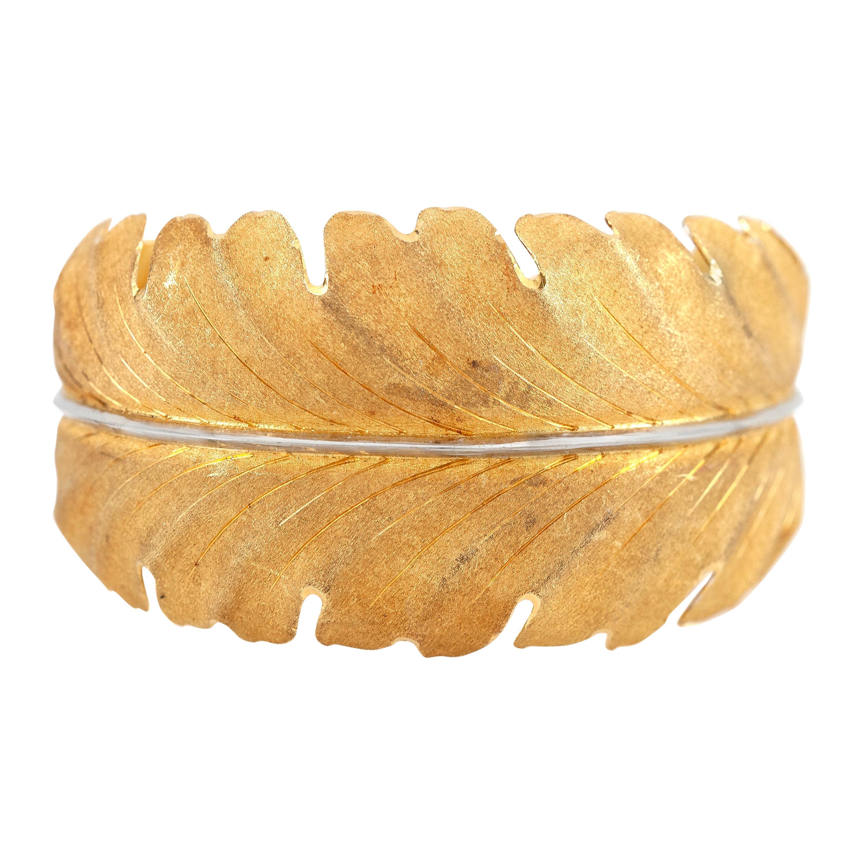 18 Karat Buccellati Cuff Leaf Bracelet