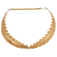 18 Karat Buccellati Leaf Choker Necklace