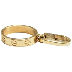 18 Karat Cartier Love Charm Ring Yellow Gold