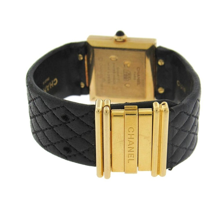 18 Karat Chanel Mademoiselle Wristwatch In Good Condition For Sale In New York, NY