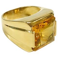 18 Karat Citrine Ring