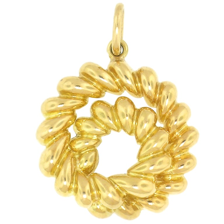 18 Karat Coiled Shrimp Pendant by Tiffany & Co. For Sale