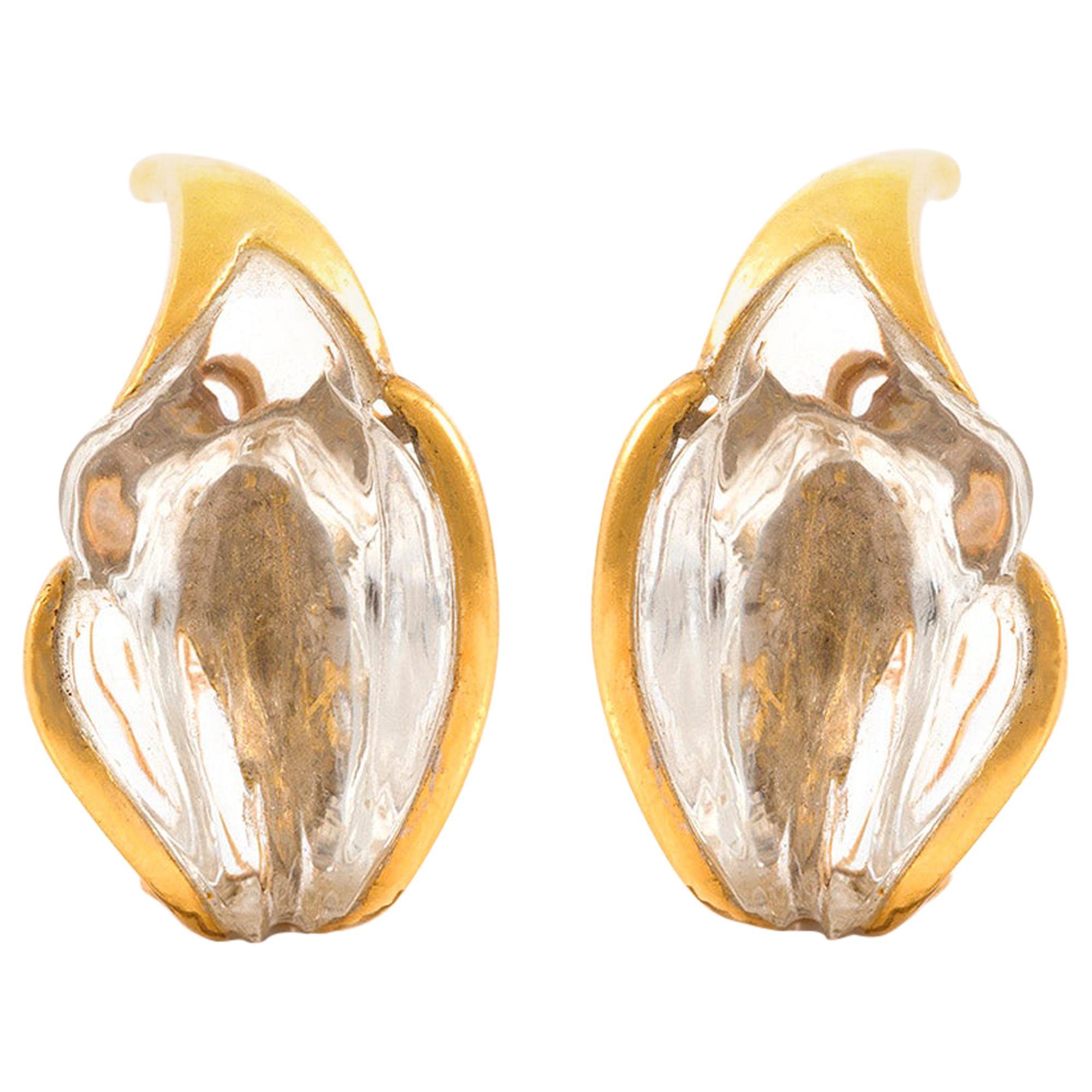 18 Karat Crystal Clip-On Tiffany & Co. Earrings