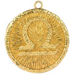 18 Karat David Webb Omega Symbol Medalliion