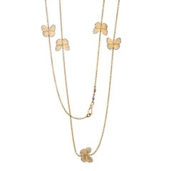 18 Karat Diamond Asterope Migration Butterfly Long Chain Necklace