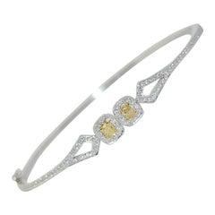 18 Karat Diamond Bangle Bracelet