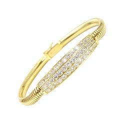 18 Karat Diamond Bar Bracelet