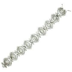 18 Karat Diamond Bracelet circa 1940s 18.60 Carat