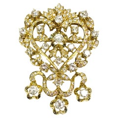 18 Karat Diamond Brooch Enhancer Pendant