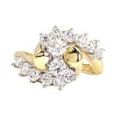 18 Karat Diamond Bypass Ring